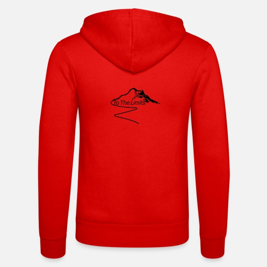 Border Hoodies & Sweatshirts - To The Limits - Unisex Zip Hoodie classic red