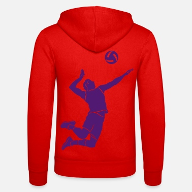 Volleyer Volleyball player # 1 - Unisex Zip Hoodie