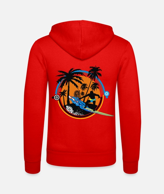 Water Hoodies & Sweatshirts - surfer - Unisex Zip Hoodie classic red