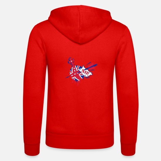 Arrow Hoodies & Sweatshirts - Imperial Jack Union Jack Anti Royales motif - Unisex Zip Hoodie classic red