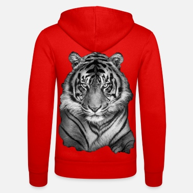 House Tiger, wild animals, tigers, jungle, - Unisex Zip Hoodie