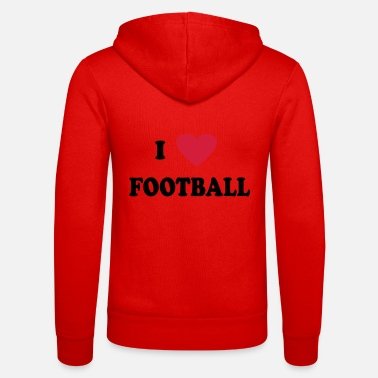 Soccer I Love Football - Unisex zip hoodie