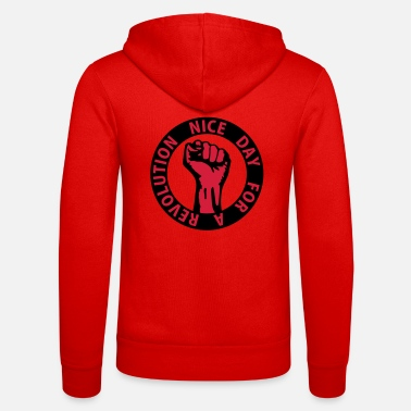 Against 2 colors - nice day for a revolution - against - Unisex Zip Hoodie