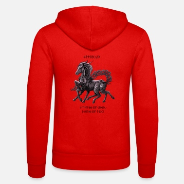 Sleipnir Celtic Design (with writing) - Unisex Zip Hoodie