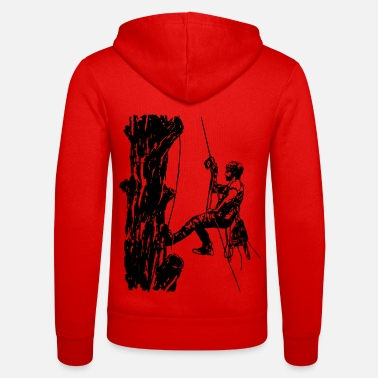 Arborist tree climber on oak (monochrome) - Unisex Zip Hoodie
