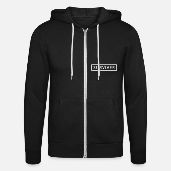 Mma Hoodies & Sweatshirts - surviver - Unisex Zip Hoodie black