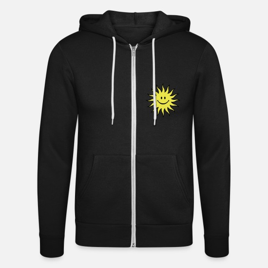 Joy Hoodies & Sweatshirts - Sun - Unisex Zip Hoodie black