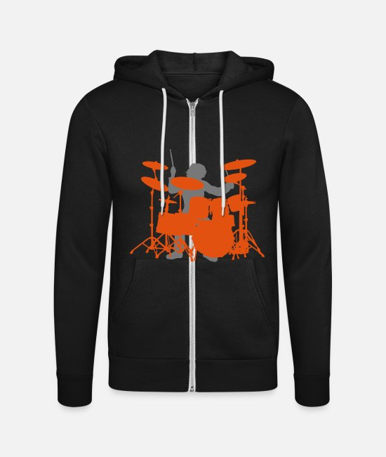 Drummer Hoodies & Sweatshirts - Drums - Unisex Zip Hoodie black