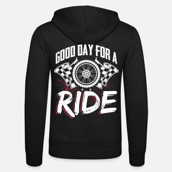 Motorcycle Hoodies & Sweatshirts - Motorcycle Biker Tour Gift Cool man with driver - Unisex Zip Hoodie black