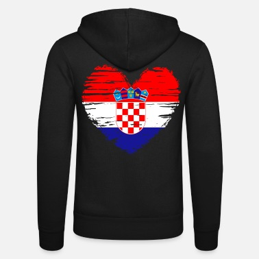 Croatia heart flag flag coat - Unisex Zip Hoodie
