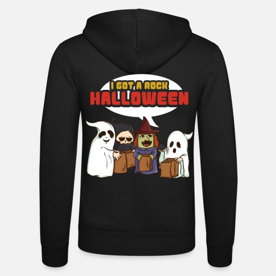 Gift Idea Hoodies & Sweatshirts - I have a rock Halloween - Unisex Zip Hoodie black