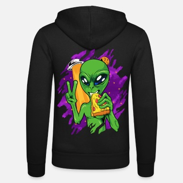 Alien Eating Pizza - Unisex Zip Hoodie