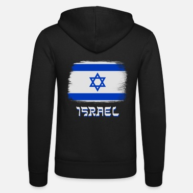 Star Israel flag with star of David - Unisex Zip Hoodie