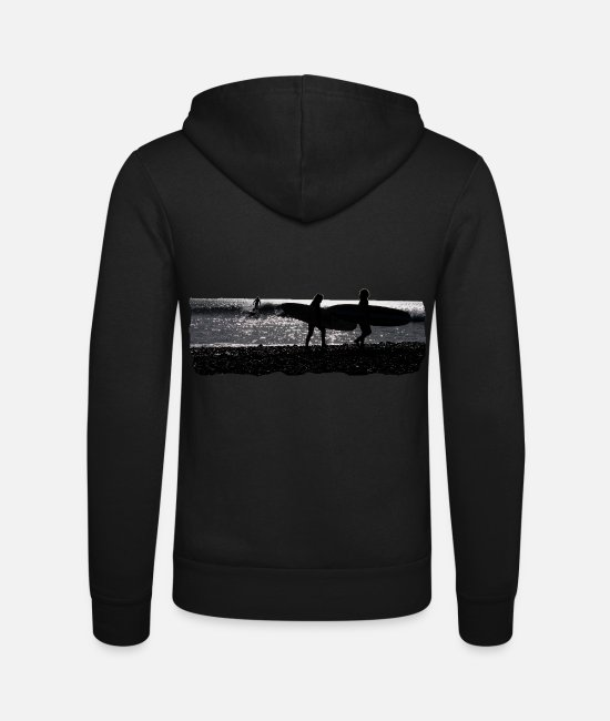 Sunset Hoodies & Sweatshirts - surf - Unisex Zip Hoodie black