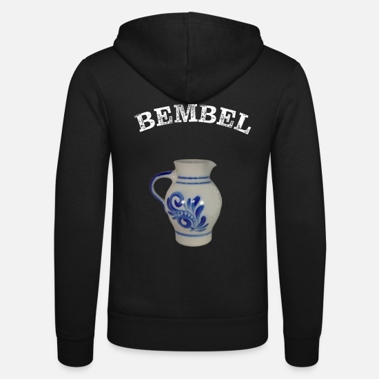 Birthday Hoodies & Sweatshirts - Bembel - cider - Unisex Zip Hoodie black