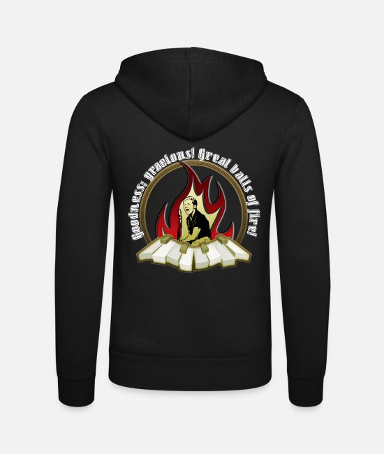 Gift Sweaters & hoodies - Jerry 50s balls of fire Lewis Lee music gift - Unisex zip hoodie zwart