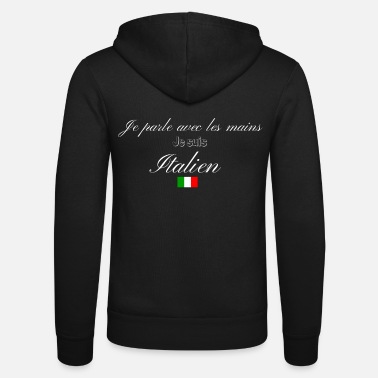 Italian Italian - Unisex Hooded Jacket by Bella + Canvas