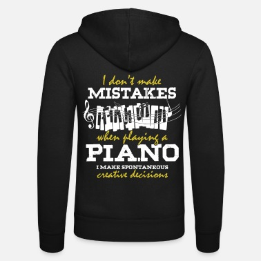 Piano Playing The Piano - the piano - Unisex Zip Hoodie