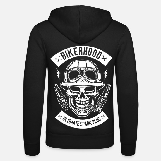 Motorcycle Hoodies & Sweatshirts - motorcycle - Unisex Zip Hoodie black