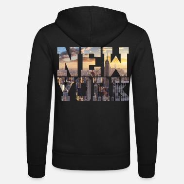 I Love New York New York New York - Felpa con cappuccio di Bella + Canvas