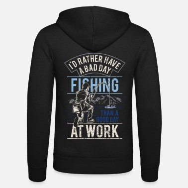 Los Angeles Angler gift for men fishing funny sayings - Unisex Hooded Jacket by Bella + Canvas