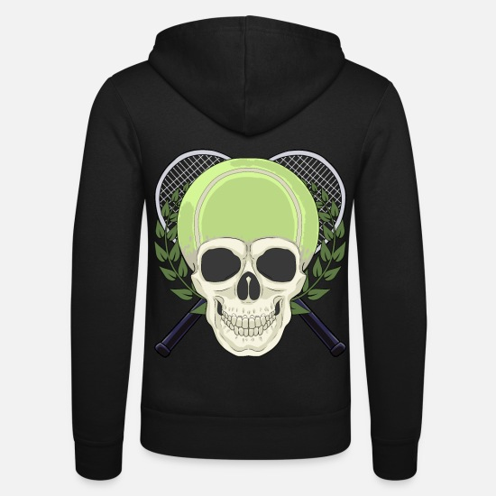 Tennis Match Hoodies & Sweatshirts - Tennis tennis court tennis player tennis ball - Unisex Zip Hoodie black