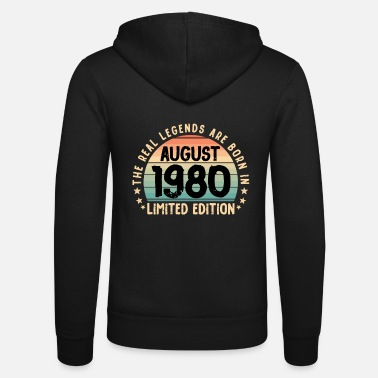 Happy Birthday August 1980 Gift T-Shirt Limited Edition '80 - Felpa con zip unisex
