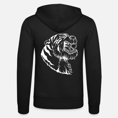 Big Cats Tiger head big cat big cat - Unisex Zip Hoodie