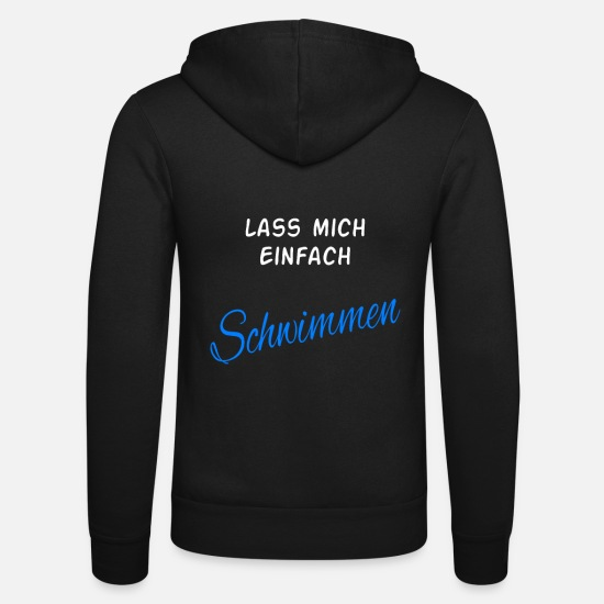 Swimming Pool Hoodies & Sweatshirts - Swimming swimming swimming swimming swimming - Unisex Zip Hoodie black