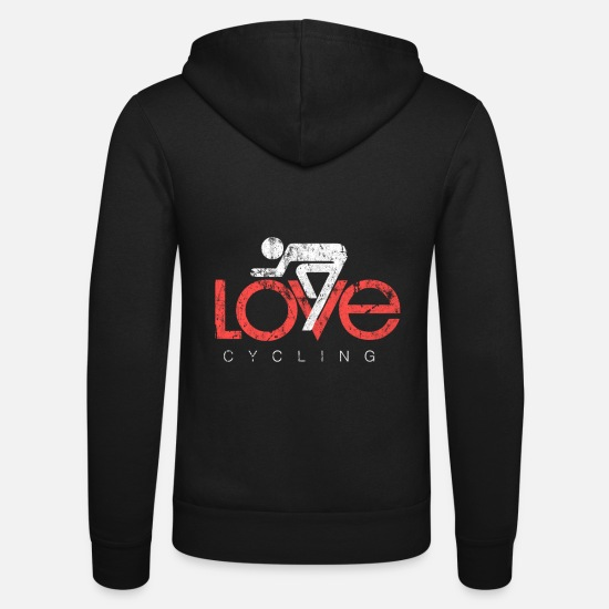 Gift Idea Hoodies & Sweatshirts - bicycle - Unisex Zip Hoodie black