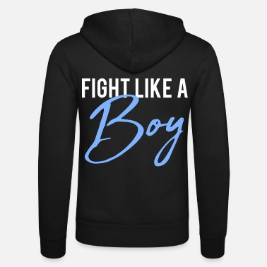 2reborn fight like a boy Junge Menpower Hero Gym S - Unisex Zip Hoodie