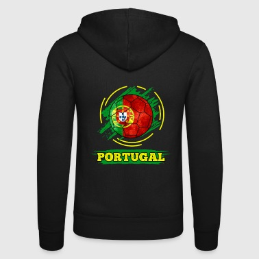 Country Flag Portugal - Unisex Kapuzenjacke von Bella + Canvas