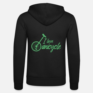 Unicycle Unicycle Unicycle Unicycle Unicycling - Unisex Zip Hoodie