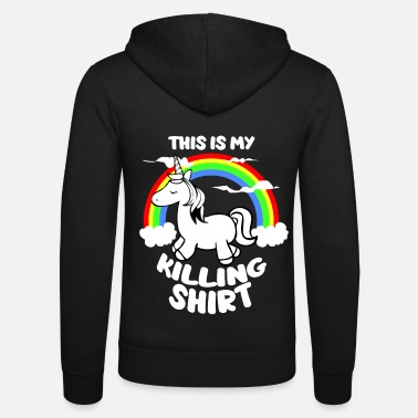 Killar Unicorn Kill Kill Kill Humor Roliga Sayings - Zip hoodie unisex