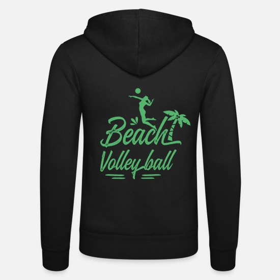 Équipe Sweat-shirts - Équipe Vollyball Player Volleyballer Volleyball - Veste à capuche unisexe noir