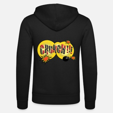 Comicstyle Crunch Comic Comicstyle Cartoon tekstballon - Unisex zip hoodie