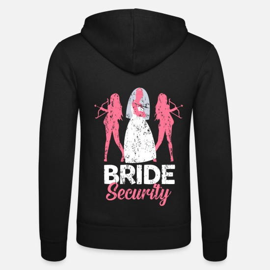 Testimone Felpe - Team Bride Maid of Honor Marry Regalo di matrimonio - Felpa con zip unisex nero