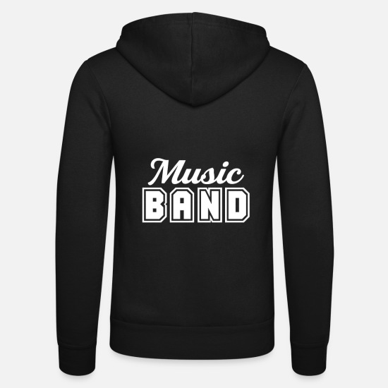 Gift Idea Hoodies & Sweatshirts - Marching band Music band Music School band Musician - Unisex Zip Hoodie black