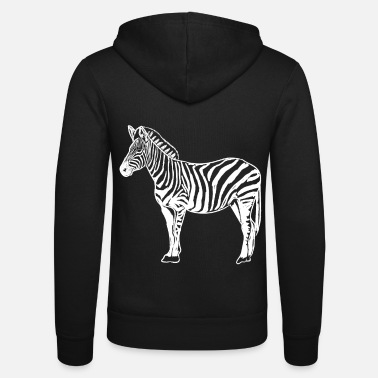 Illustration Zebra Image Zebra Illustration - Veste à capuche unisexe