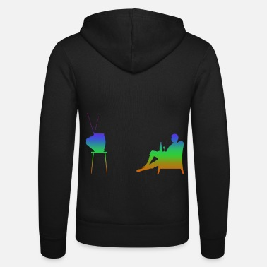Television Television and television Rainbow Silhuette - Unisex Zip Hoodie