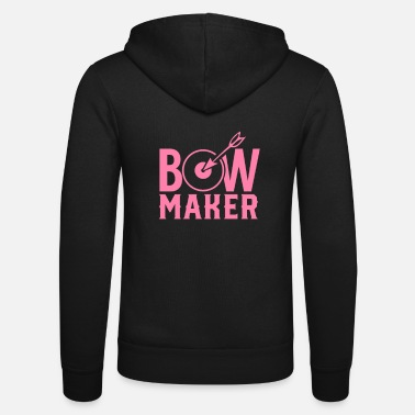 Bow Bows bow maker bow maker - Unisex Zip Hoodie