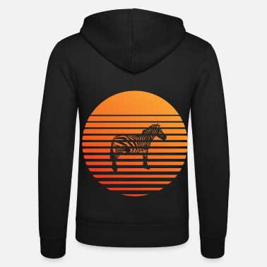 Wild Zebra silhuette in the sunset - Unisex Zip Hoodie