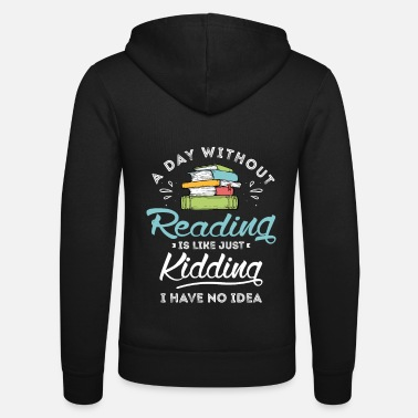 Couch Reader Design for a Reading Fan - Unisex Zip Hoodie
