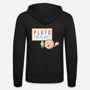 Prostest Pluto for Planet Protest Science Gift Tree Branch - Unisex Zip Hoodie
