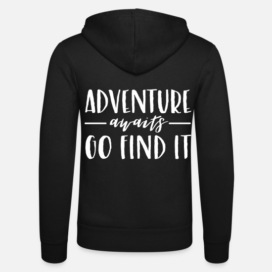 Birthday Hoodies & Sweatshirts - adventure - Unisex Zip Hoodie black