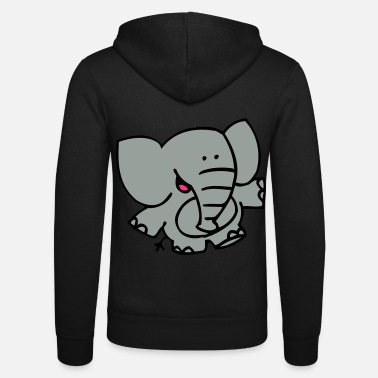 Little Elephant by Cheerful Madness!! - Unisex Zip Hoodie