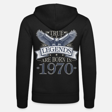 Born 1970 Birthday 1970 50th birthday legend 50 years - Unisex Zip Hoodie