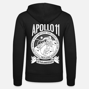 Production Year Apollo Moon Landing 50 Years Anniversary product - Unisex Zip Hoodie