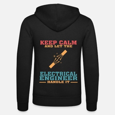 Electronics Funny Electrical Engineer Tshirt, Keep Calm - Unisex Zip Hoodie