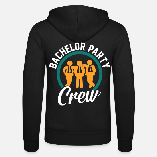 Bride Hoodies & Sweatshirts - Bachelor Party Bridegroom Marry Celebrate - Unisex Zip Hoodie black